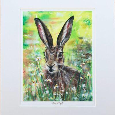 Dawn Vigil Hare Animal Art Gift Print Pankhurst Cards and Gifts