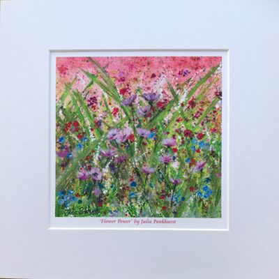 Flower Power Landscape Art Print Gift Pankhurst Cards and Gifts