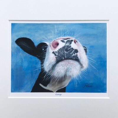 Cow George Art Print Gift Pankhurst Cards and Gifts