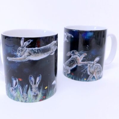 Hare Antics Mug Animal Art Gift Pankhurst Cards and Gifts