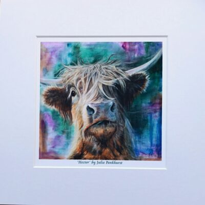 Highland Cow Hector Art Print Gift Pankhurst Cards and Gifts