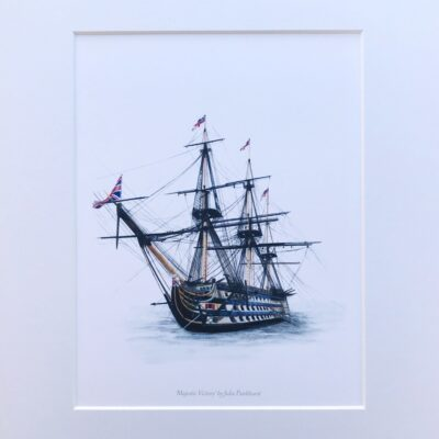 Majestic Victory Portsmouth HMS Victory Historical Warships Art Print Gift Pankhurst Cards and Gifts