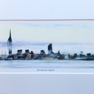 Portsmouth Skyline Landscape Art Print Gift Pankhurst Cards and Gifts