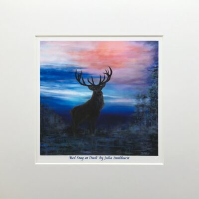 Red Stag at Dusk Animal Art Print Gift Pankhurst Cards and Gifts