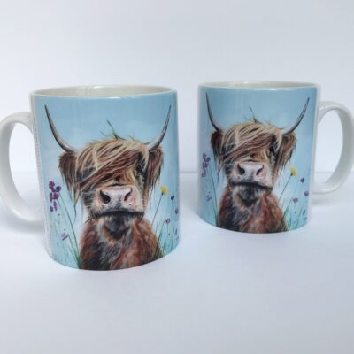 Highland Cow Ronald Jnr Mug Gift Pankhurst Cards and Gifts