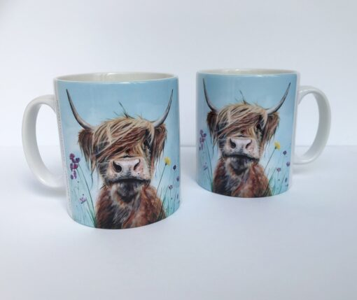 Highland Cow Ronald Jnr Mug Gift Pankhurst Cards and Gifts