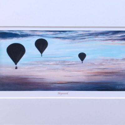 Skyward Hot Air Balloon Art Print Gift Pankhurst Cards and Gifts