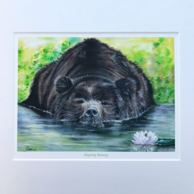 Grizzly Bear Animal Art Print Gift Pankhurst Cards and Gifts