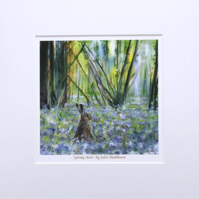 Spring Hare Animal Art Gift Print Pankhurst Cards and Gifts