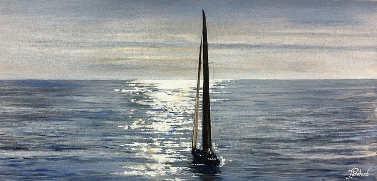Pankhurst Cards and Gifts prints Serenity Seascape Art Yacht