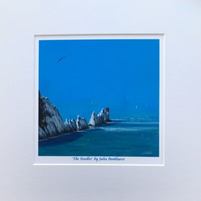 The Needles Isle of Wight Seascape Art Print Gift Pankhurst Cards and Gifts