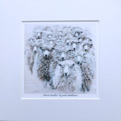 Warm Woollies Sheep Ewe Animal Art Gift Print Pankhurst Cards and Gifts