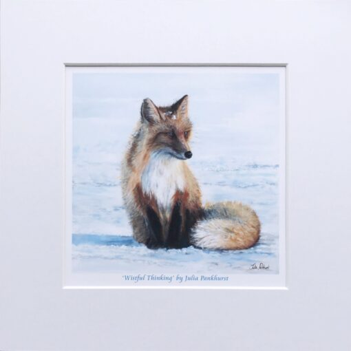 Red Fox Wistful Thinking Animal Art Gift Pankhurst Cards and Gifts