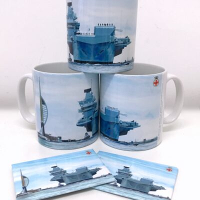 HMS Prince of Wales Warship Art Mug Magnet Pankhurst Cards and Gifts