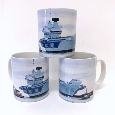 HMS Queen Elizabeth Warship Art Mug Gift Pankhurst Cards and Gifts