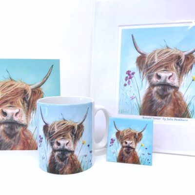 Highland Cow Ronald Jnr Gift Collection Pankhurst Cards and Gifts