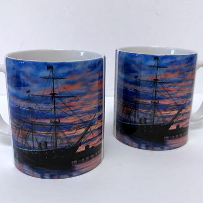 Sunset on Warrior Mug Pankhurst Cards and Gifts