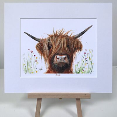 Highland Cow Dennis Art Pankhurst Cards and Gifts