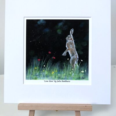 Lone Hare Animal Art Pankhurst Cards and Gifts