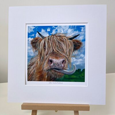 Highland Cow Jeffrey Gift Art Print Pankhurst Cards and Gifts