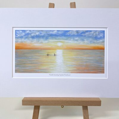 Paddle-Boarding seascape art gift print Pankhurst Cards and Gifts