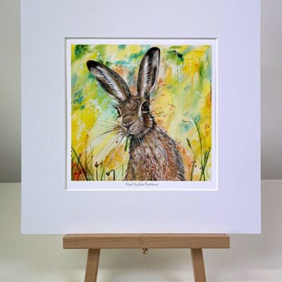 Hazel hare mini print gift art Pankhurst Cards and Gifts