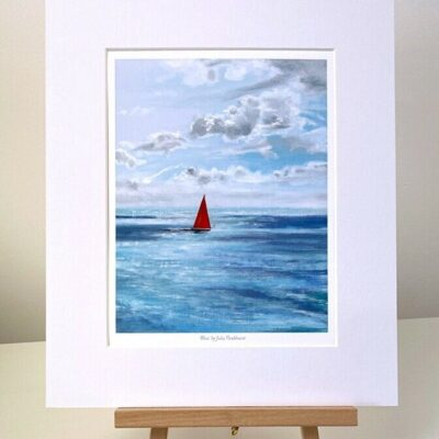 Bliss yacht sailing mini print gift art Pankhurst Cards and Gifts