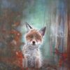 Basil Fox Club Animal Art Greetings Card Gift Pankhurst Cards and Gifts