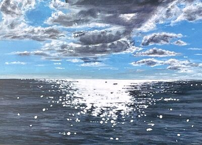 Crystal Calm seascape Art Greetings Card Gift Pankhurst Cards and Gifts