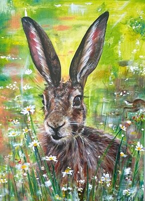 Dawn Vigil Hare Art Greetings Card Gift Pankhurst Cards and Gifts