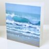 Glassy Sea seascape crashing waves beach Art Greetings Card Gift Pankhurst Cards and Gifts