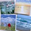 Pankhurst Cards and Gifts Warm Breeze Seascape Landscape waves beach hut art greetings cards
