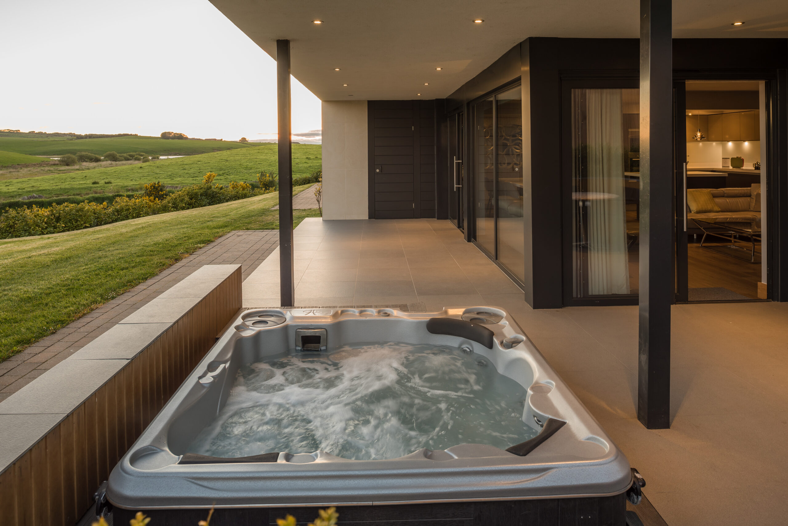 Lochside hot tub after Quoin lighting and post-production