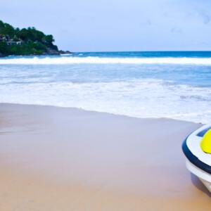 Yellow jet ski on the beach - yachtrentaldxb.com