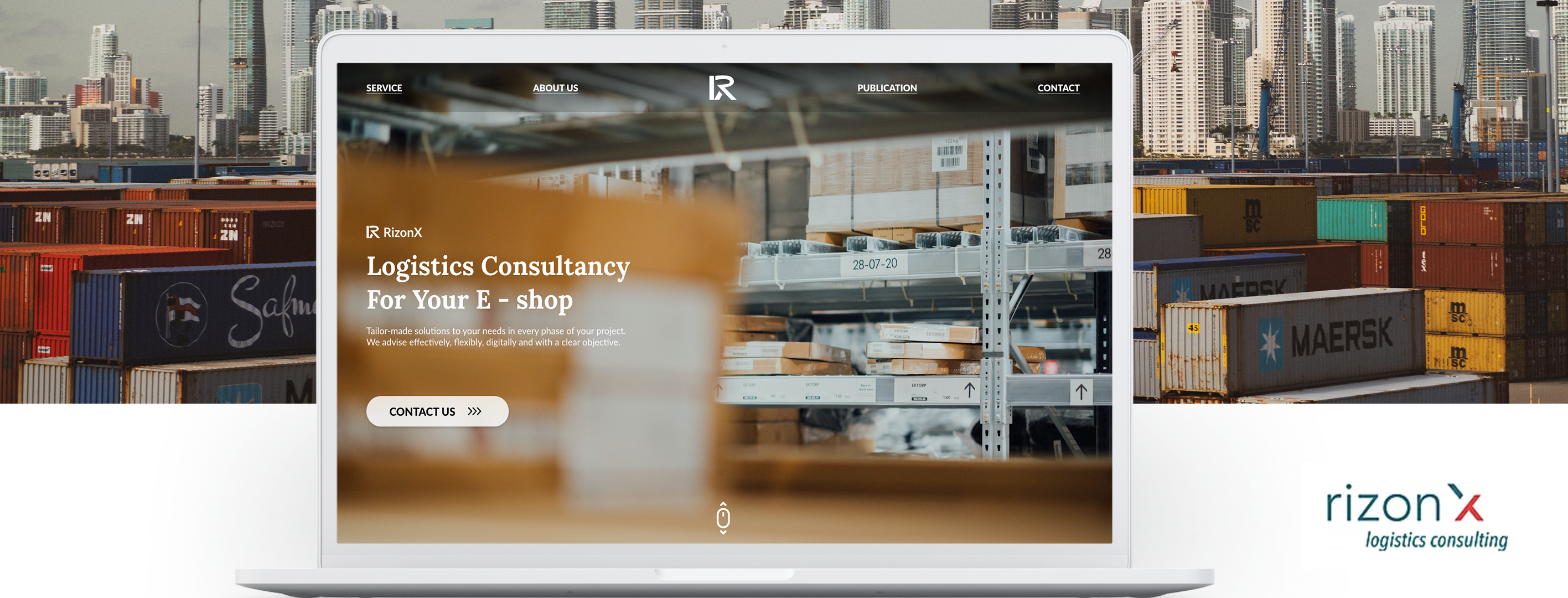 RizonX logistics website design