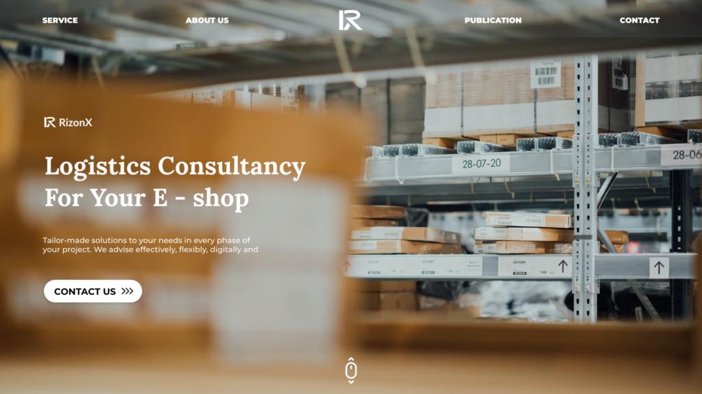 re design homepage rizonX
