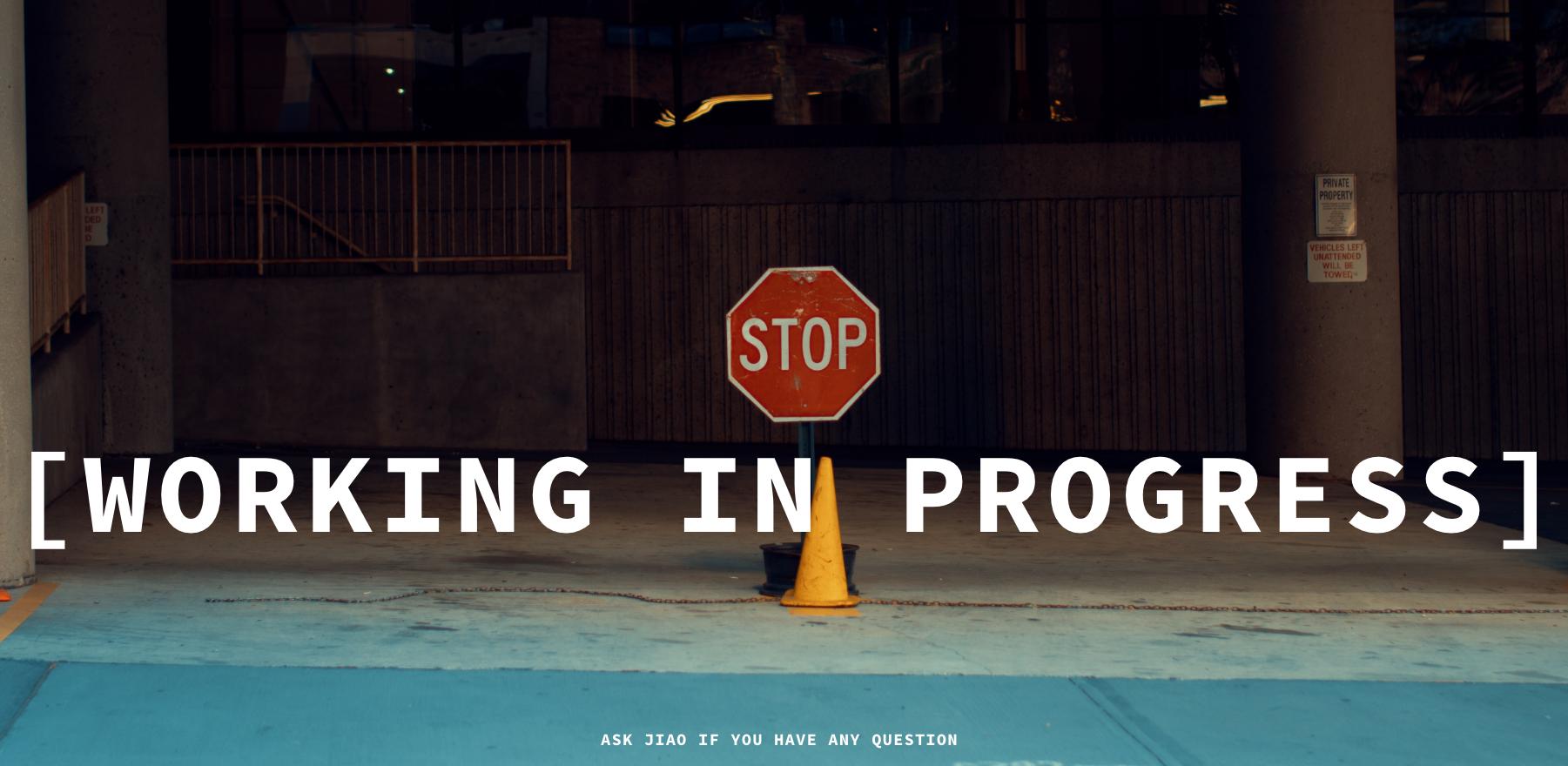 working in progress_sorry