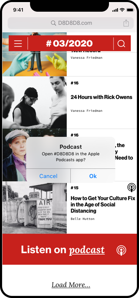 content page follow on podcast