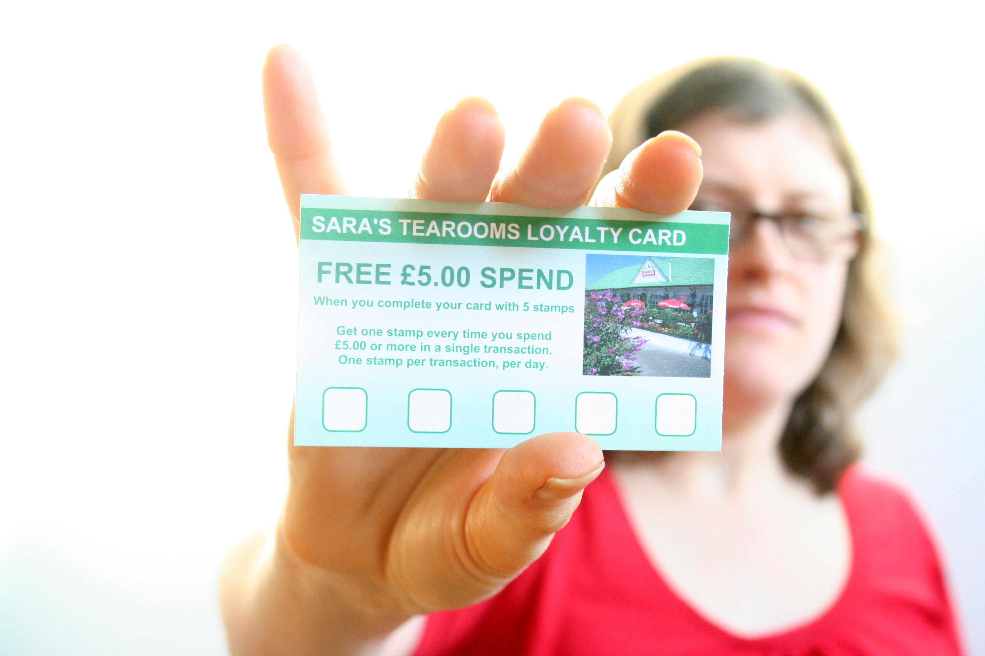 Sara's Tearooms Loyalty Card