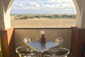 Dining on the Beach Terrace at Sara's Tearooms