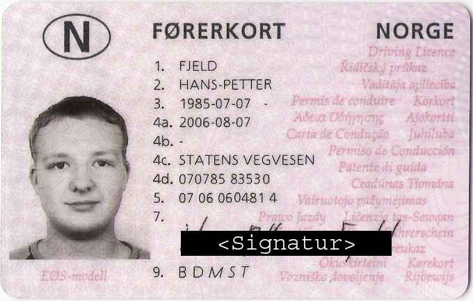 Norway Drivers License