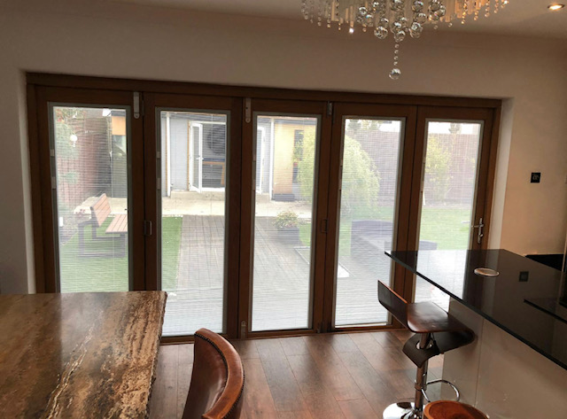 bifold doors with integral blinds