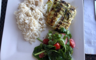 Grilled Halibut wit Cilantro-Lime glaze