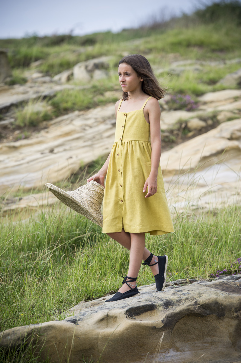 JAIZKIBEL yellow biscotti dress