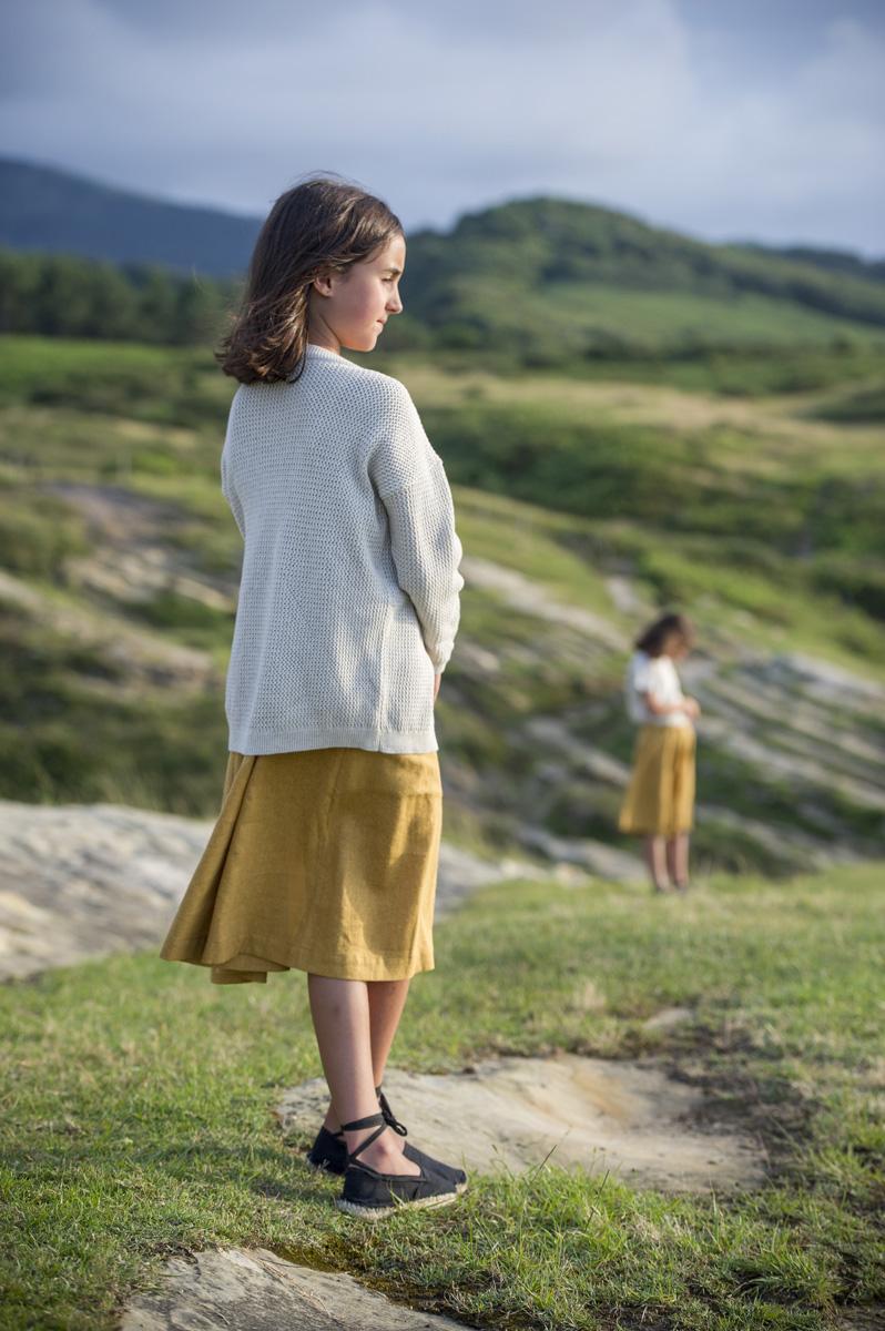 DONIBANE  dijon mustard skirt