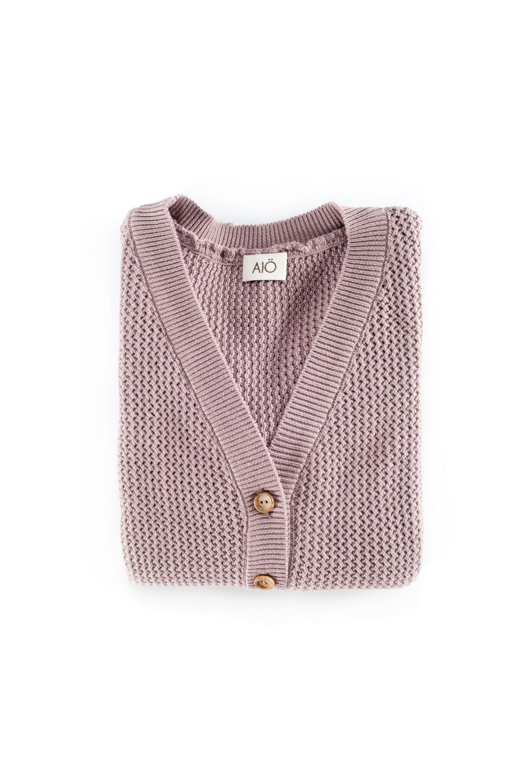 KOBARON pink lavender cardigan