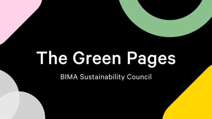 bima sustainability council - green pages