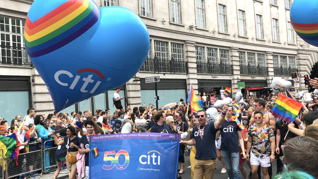 Citibank at Pride London 2019 ©Mark Johnson