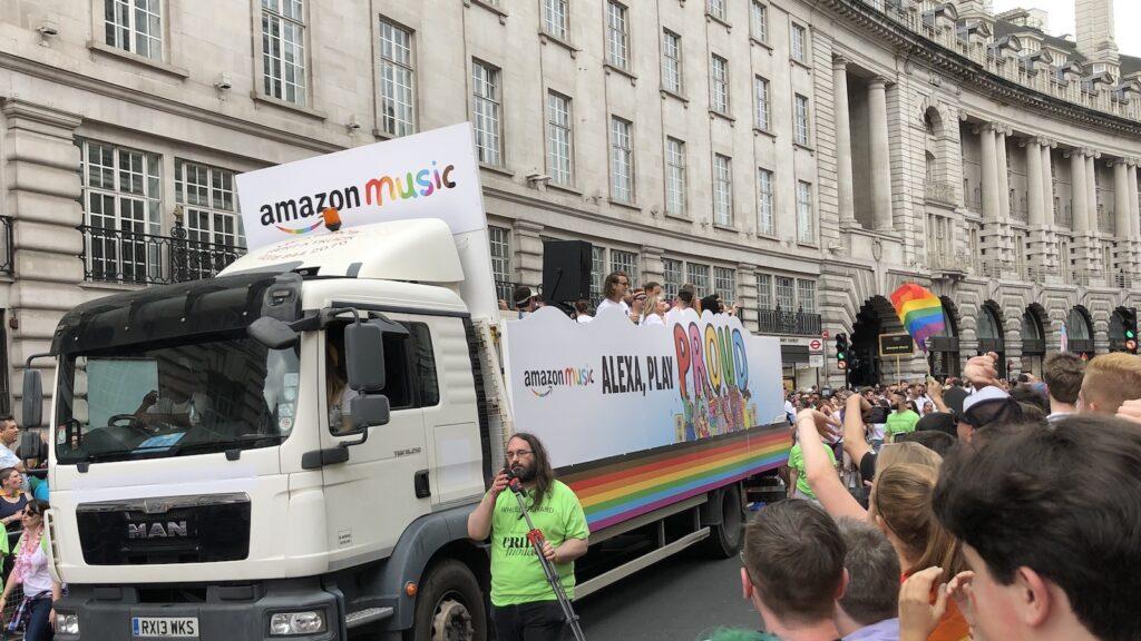 pride month - amazon at London Pride ©Mark Johnson