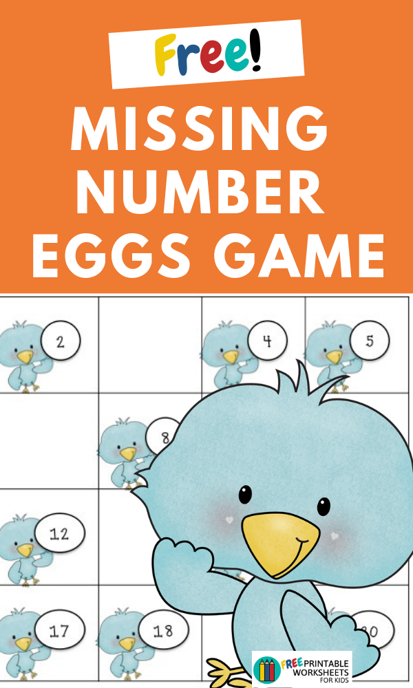 Missing Number Eggs | Free Printable Worksheets For Kids | Practice counting from 1-20 with this cut and paste activity.